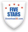 5 stars award from www.download25.com