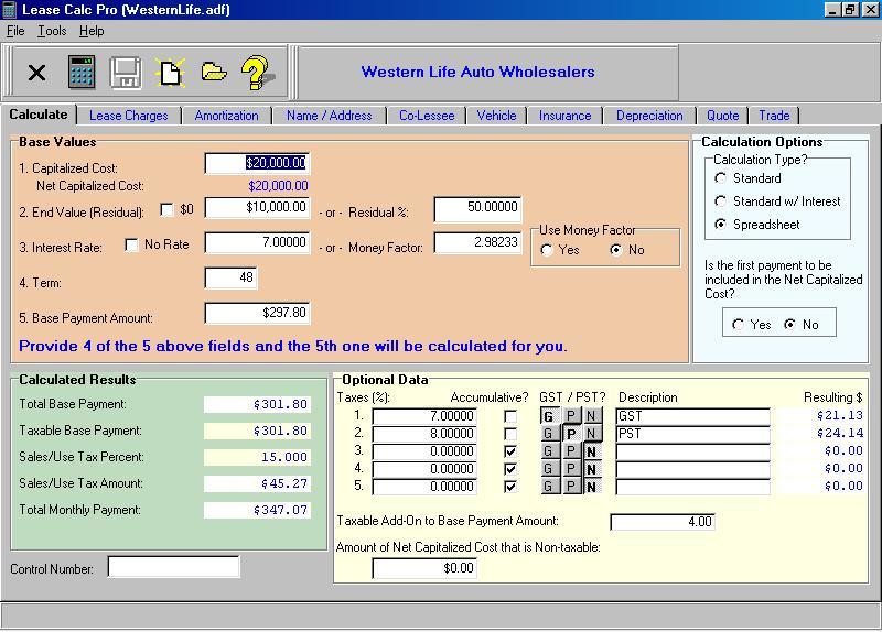 Lease Calc Pro